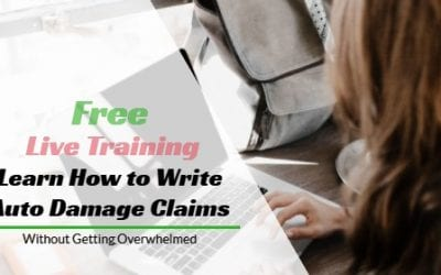 Free Live Training – Learn to Write Auto Damage Claims Without Getting Overwhelmed