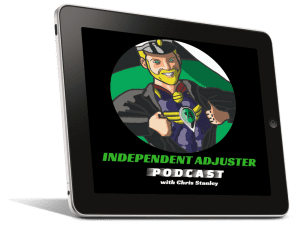 independent adjuster podcast tablet