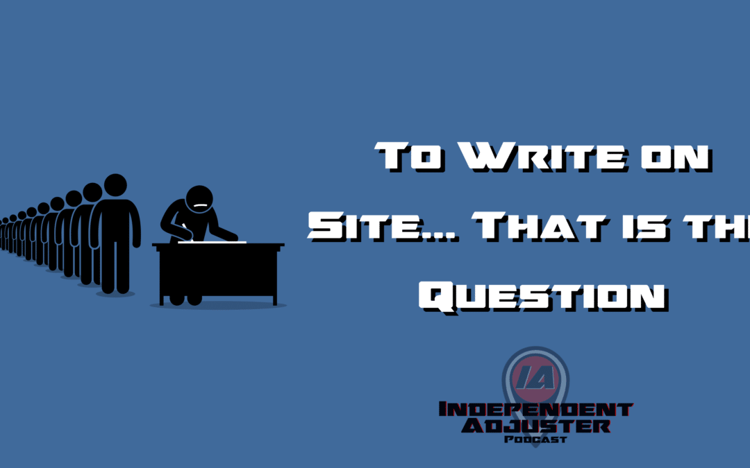 IA 148: To Write on Site… That is the Question