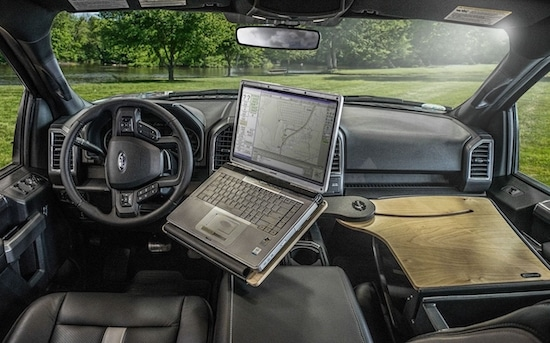car desk for insurance adjusters